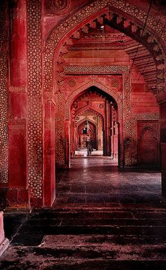 #India #Red #Temple breathtaking!!!