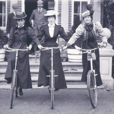 Susan B. Anthony credits the bicycle for women's liberation!