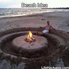 beach campfire idea!!