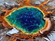 EarthCache GC1JY47 near Grand Prismatic Hot Spring in Wyoming - the largest hot spring in Yellowstone Nat'l Park.
