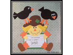 classroom, kindergarten five senses, scarecrow craft, kinder idea, spiders