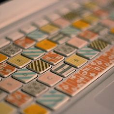 Washi tape covered laptop keyboard