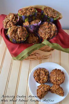 Whole Wheat Oatmeal Pumpkin Muffins