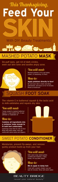 DIY beauty treatments that will feed your skin this Thanksgiving!