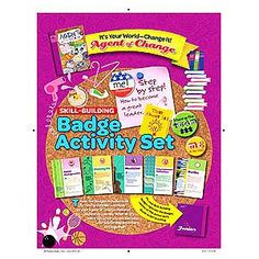 Girl Scout Junior Badge Activity Set. Agent of Change. It's your World - Change It! $4