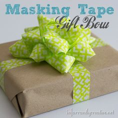 Make a gift bow out of tape