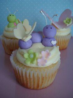 Caterpillars and Butterflies Cupcakes