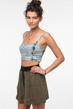 Out From Under Stonewash Denim Bra Top #urbanoutfitters