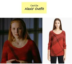 "On the blog: Alexis' (Molly Quinn) plaid sweater | Castle - ""Limelight"" (Ep. 613) #tvstyle #tvfashion #outfits #fashion"