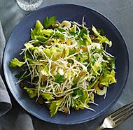 Celery Root, Celery Heart, and Celery Leaf Salad