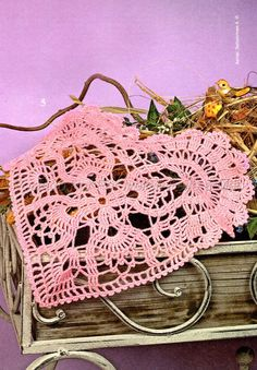 قلوب كروشيه , Coeurs au crochet , Crochet heart