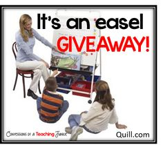 Giving away this fabulous easel! C'mon over and see how YOU could win!