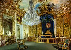 King Ludwig II's Bedroom at Linderhof Palace, Germany