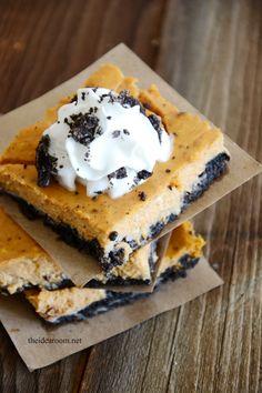 Oreo Pumpkin Cheesecake... Love Fall Recipes!