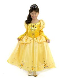 Princess paradise - Yellow Jeweled Belle Dress - Girls
