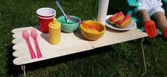 Make a Doll Picnic-Style Table