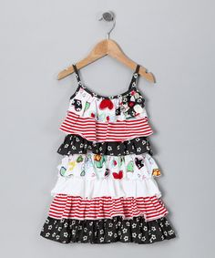 So cute! Take a look at this Crayon Heart Tiered Ruffle Dress - Toddler & Girls by Baby Nay on #zulily today!