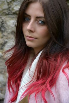 Pink Ombre hair #pinkhair #ombrehair #ejstyle
