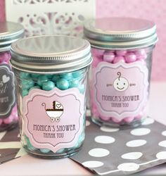 Baby Shower Mini Mason Jars