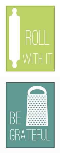 Fun Kitchen Printables ( 8x10, 11x14 size download link :: http://www.overthebigmoon.com/fun-kitchen-printables/ )
