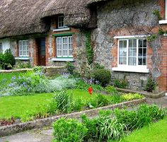 Irish Thatched Cottages in Ireland | Irish Thatched Cottage on Lough Eske, Donegal, Ireland.
