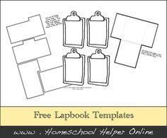 Free Lapbook Template Pages - Homeschool Helper Online