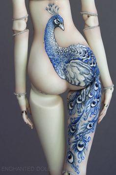 tattoo on a doll