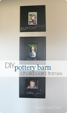 Paint Your Own Chalkboard Frames {Pottery Barn Kids inspired}