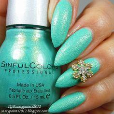 color, snowflak nail, nail charm, ugli nail, nail art