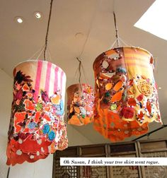 Flannel hanging lamps.