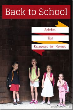 Back to school activities tips and resources for parents