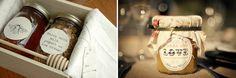 Wedding favors #Honey #Jarred #Jar #Wedding #Favors #Food #Edible #DIY #Homemade #Handmade