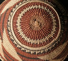 Hoopa or Karuk basketry cap, detail of start | Museum of Natural and Cultural History