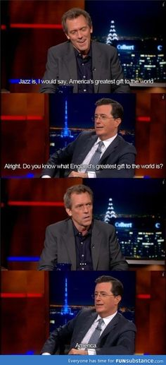 Stephen Colbert: A true patriot.