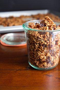 savori recip, road trip snacks, bun granola, breakfast, granola recipes, healthi food, cinnamon bun, bun savori, halloween treats