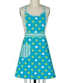 Take a look at this Blue Dot Girlie Apron - Women by Kay Dee Aprons on #zulily today!