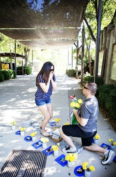 Real Life Marriage Proposals by The Yes Girls. A Proposal at the Fort Worth Zoo.