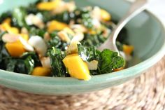 Massaged Kale Salad with Mango and Avocado...massaging the kale makes all the difference...changes the texture...really good! #AndersonEatsKale