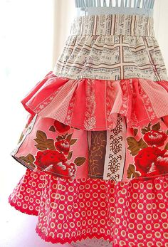 cute ruffled apron