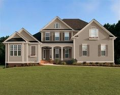 Taupe on pinterest dinner plates black doors and white trim for Sherwin williams virtual house painter exterior