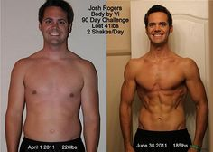 """Here's yet another example of the Challenge helping people to bring their Sexy Back! - Josh Rogers says, """"I'm 30 years old and totally transformed the direction of my health. I have a ton of energy, peace of mind, and motivation.""""  http://bodybydebra.myvi.net"""