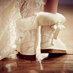 """just married"" ... morning after Uggs!"