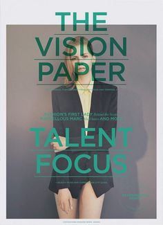 The Vision paper, magazine, fashion, layout, cover