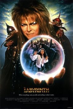 <3 film, jennifer connelly, jim henson, poster, childhood, david bowie, favorit movi, kid, labyrinths
