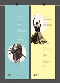 OZU - Japanese Film Festival by Ani Cordani #grafica #giappone #helvetica #poster