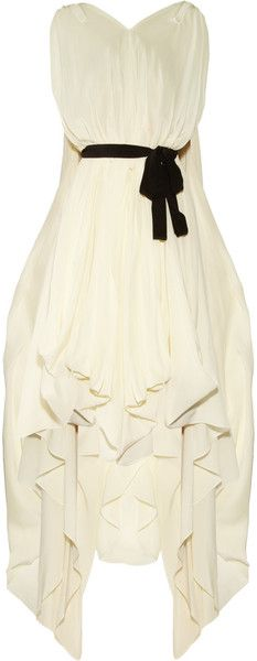 vionnet Pleated Silk Crepe De Chine Dress - Lyst
