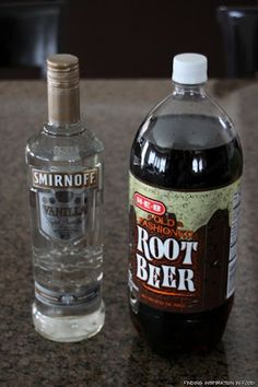 root beer and vanilla vodka - yes, they are addictive