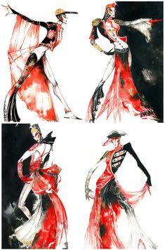 fashion sketches, colors, art style, croqui, costumefashion illustr
