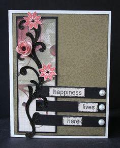 card idea, color, ctmh card, flower