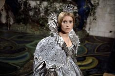 "Catherine Deneuve wearing a dress ""the color of the Moon"" in ""Peau d'Ane"" (dir. Jacques Demy, 1970)."